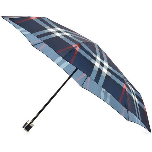 1c7eef4966d Authentic Burberry Check Umbrella Navy